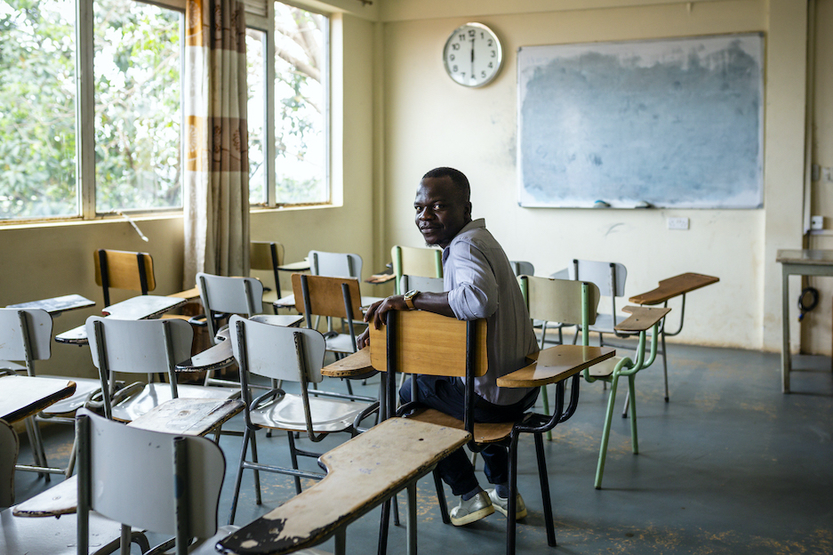 Uganda, South Sudanese DAFI student on campus.