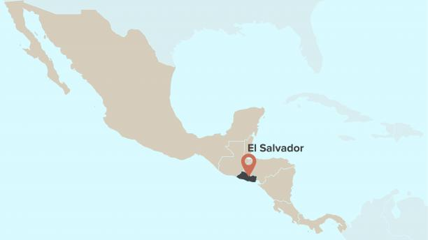 Map displaying location of El Salvador